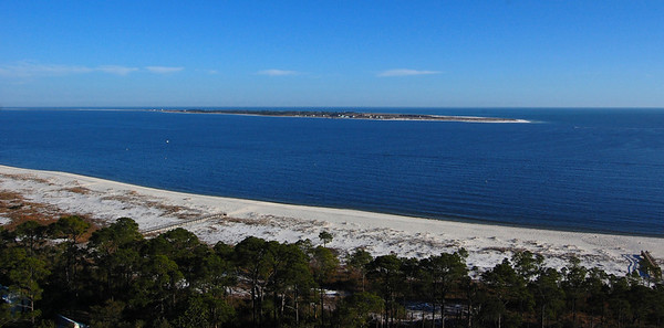 Western end of Santa Rosa Island from top of Pensacola Lighthouse