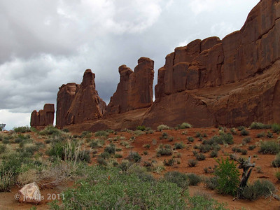 Park Avenue. This is typical of the landscape in the park. I was somewhat surprised because I hadn't seen many photos of Arches National Park except arches.