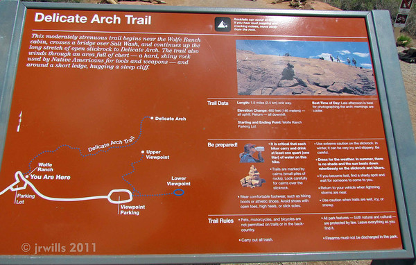 """I think """"moderately strenuous"""" is a relative term. I'm not so sure that """"1.5 miles"""" is a completely accurate description of the actual path to the Delicate Arch."""