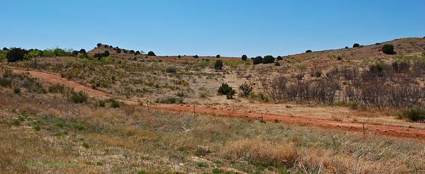 Fields along I-40