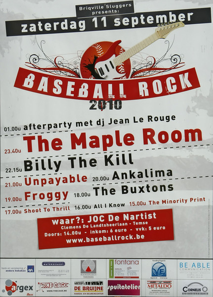 Baseball Rock 2010 - Affiche