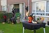 Halloween in Steendorp 2014 - Versierde tuin op het Vuurkouterplein