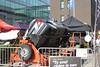 Verkeershappening 2012 - AC De Zaat, Temse<br /> BIVV infostand vrijwilligers voor Veilig Verkeer met tuimelwagen