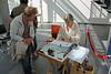 Viering 100 Jaar Internationale Vliegweek in Temse - Zondag 16 september 2012<br /> Kanten watervliegtuig in hal AC De Zaat - Kantschool Artifil