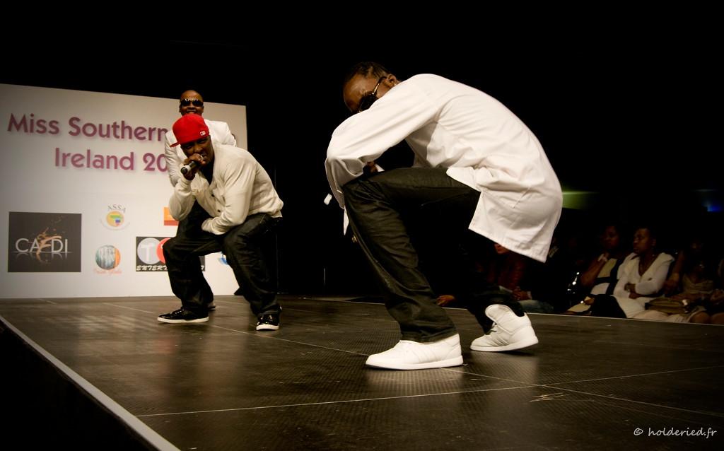 Rappeurs sur scène en live
