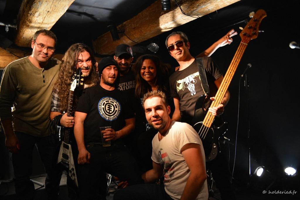 Pankstars backstage après le concert - photographe evenementiel montpellier