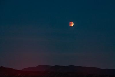 Harvest Moon over the Irvine Hills