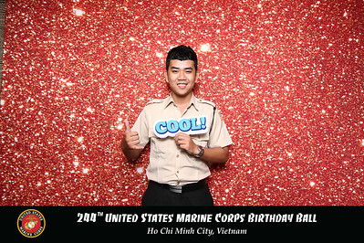 Dịch vụ in ảnh lấy liền & cho thuê photobooth tại sự kiện lễ kỷ niệm 244 năm US Marine Ball | Instant Print Photobooth Vietnam at  244th's US Marine Ball