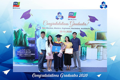 Dịch vụ in ảnh lấy liền & cho thuê photobooth tại Lễ tốt nghiệp trường Đại học Bách Khoa - BM Windows tài trợ| Instant Print Photobooth Vietnam at HCMUT Graduation sponsored by BM Windows