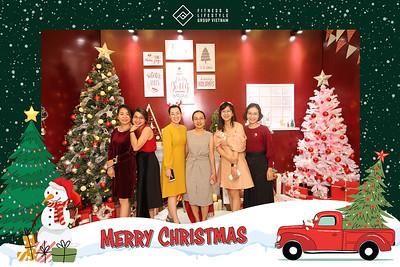 Dịch vụ in ảnh lấy liền & cho thuê photobooth tại sự kiện tiệc giáng sinh của California Fitness   Instant Print Photobooth Vietnam at California Fitness Christmas