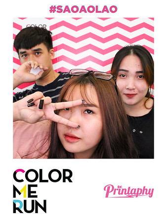 Chụp ảnh lấy liền và in hình lấy liền từ photobooth/photo booth tại sự kiện Color Me Run Pre-sale| Instant Print Photobooth/Photo Booth at Color Me Run Pre-sale | PRINTAPHY - PHOTO BOOTH VIETNAM