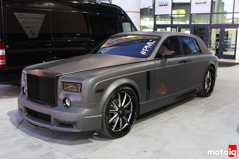 2011 SEMA Show, Chuck Johnson, Moto IQ, bitches, strippers, hoes, and ninjas, las vegas convention center, roll royce