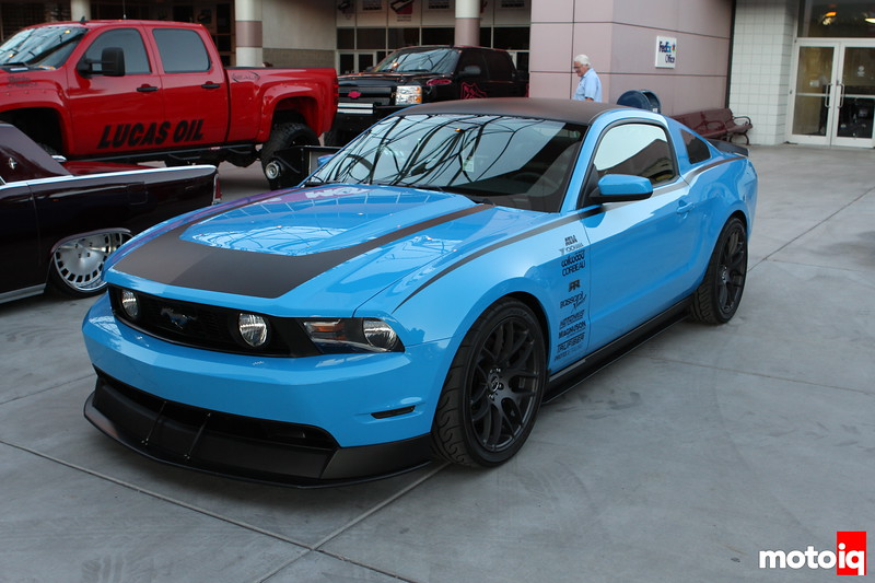 2011 SEMA Show, Chuck Johnson, Moto IQ, bitches, strippers, hoes, and ninjas, las vegas convention center, ford mustang