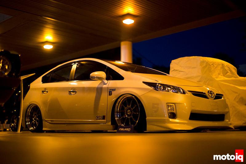 White Toyota Prius