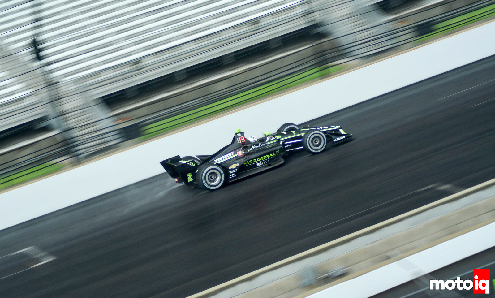 Josef Newgarden on a Drying Track