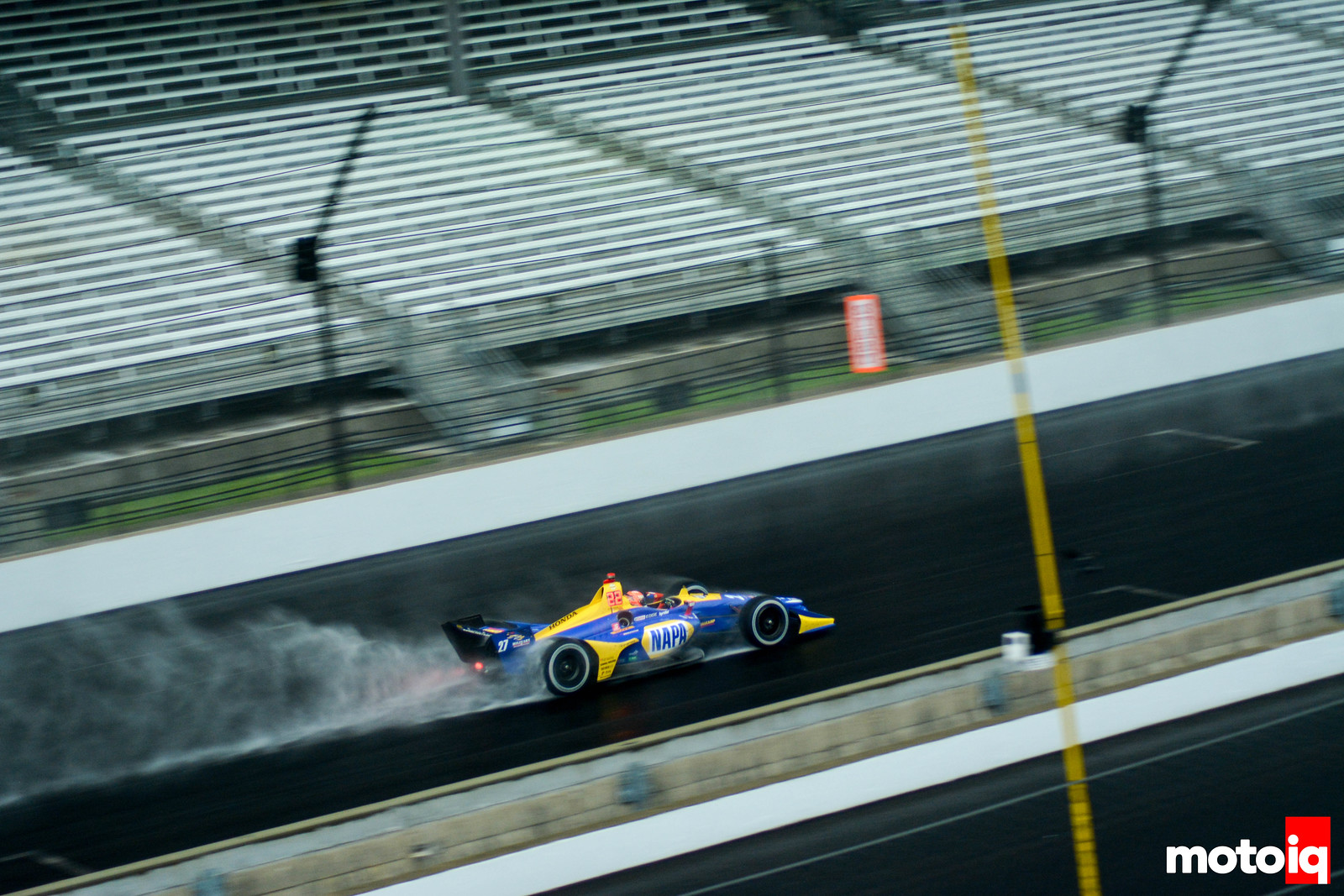 Alexander Rossi in the Wet