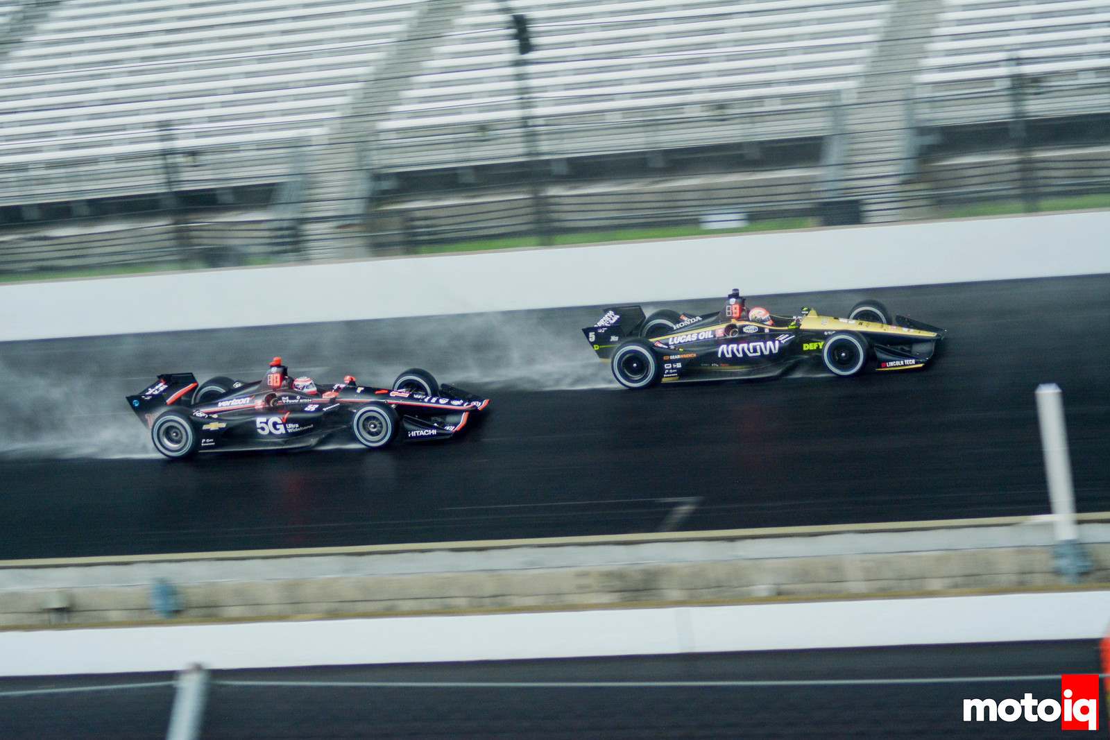 Will Power & James Hinchcliffe in the Wet