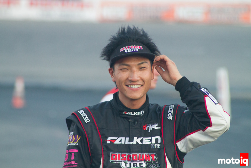 Dai after the race