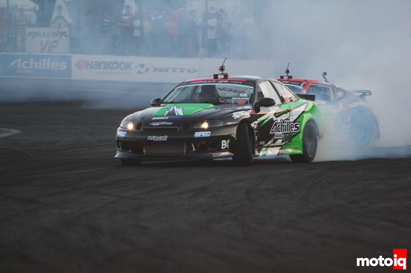 Robbie Nishida Chris Forsberg Evergreen Speedway 2013