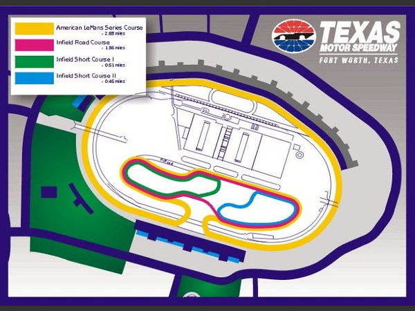 Texas Motor SPeedway Track Map Global Time Attack Infield Coure