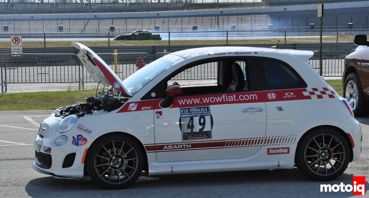 Fiat 500 Abarth Redneck Racing Richard Dickey Time Attack Texas Motor SPeedway