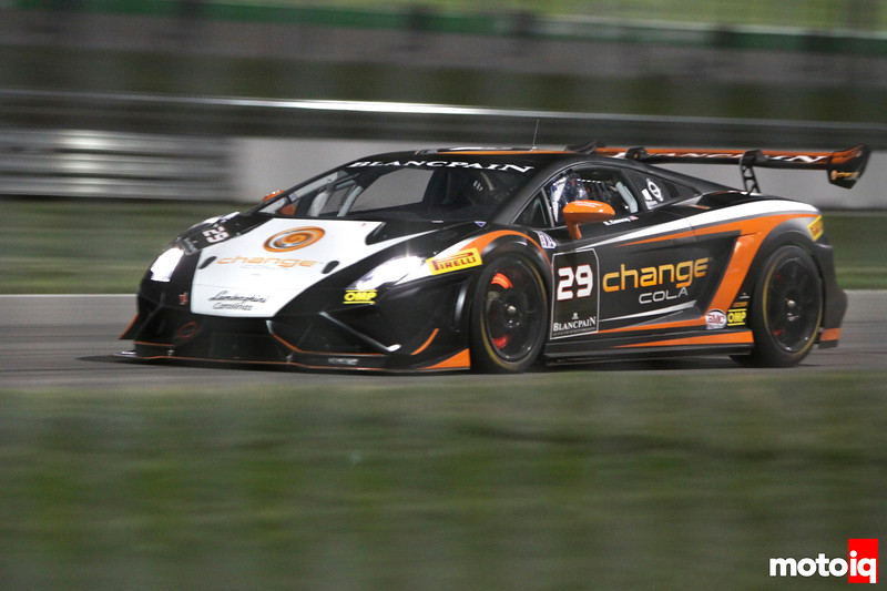 Lamborghini Super Trofeo glowing rotors