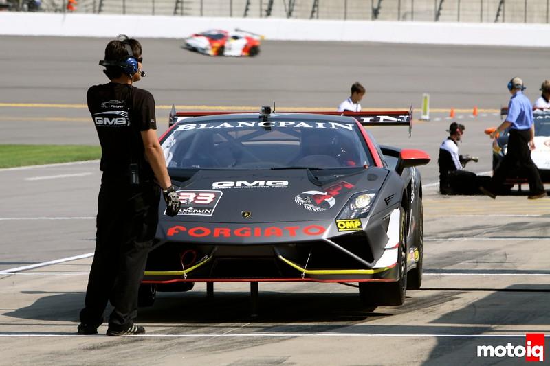 Kansas Speedway Lamborghini air jacks