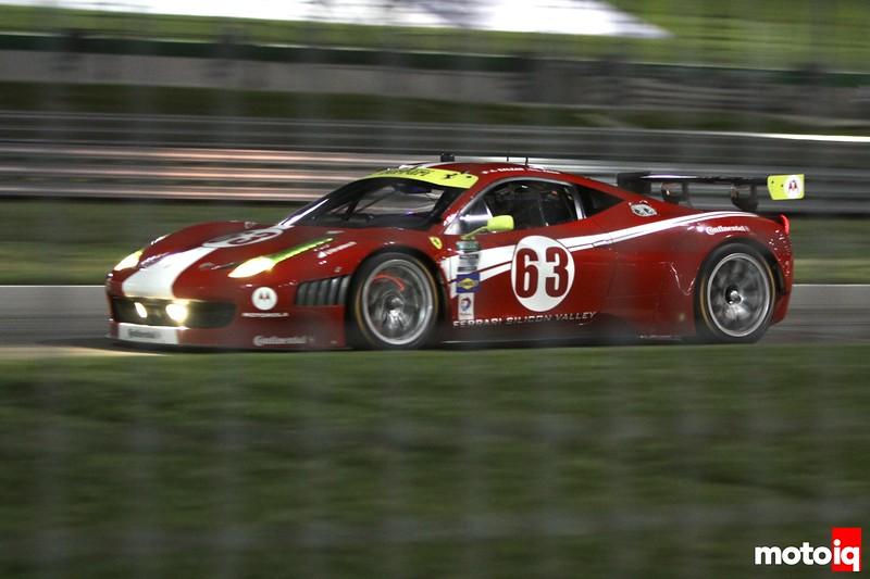 Ferrari glowing brakes