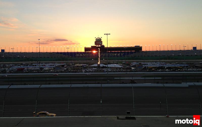 Kansas Speedway night race lights