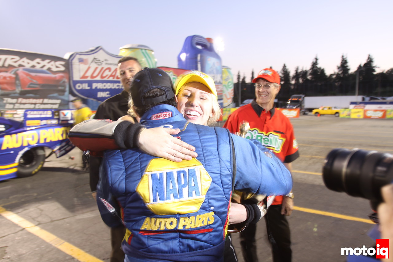 Ron Capps and Courtney Force