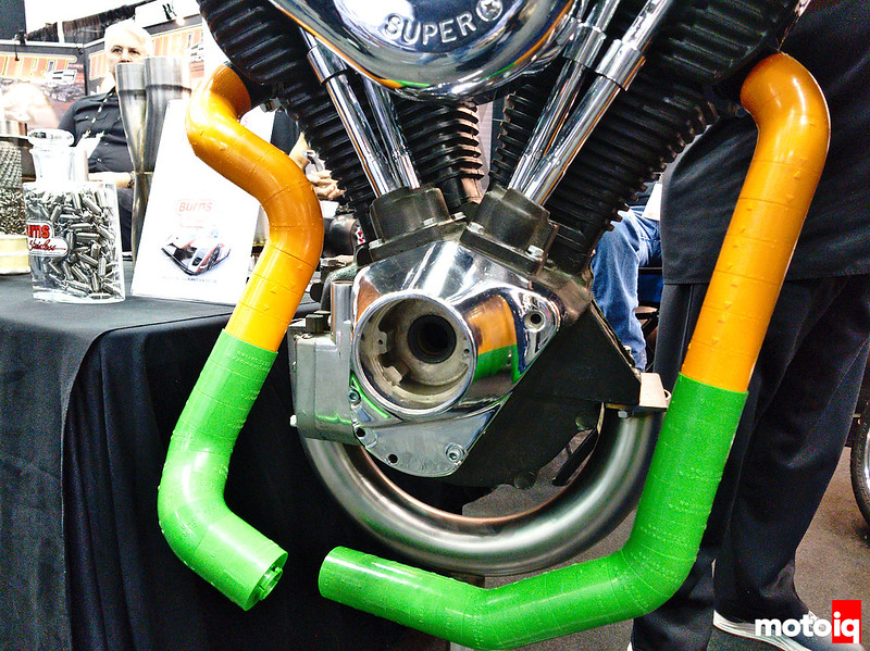 icengineworks header fabrication kit on a V-twin