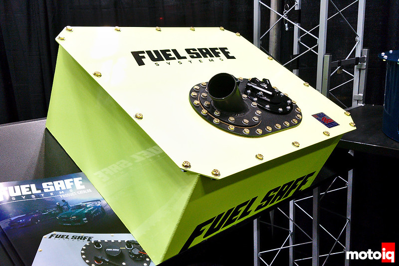 Fuel Safe's new Pro Cell design with a more rearward-mounted fill plate