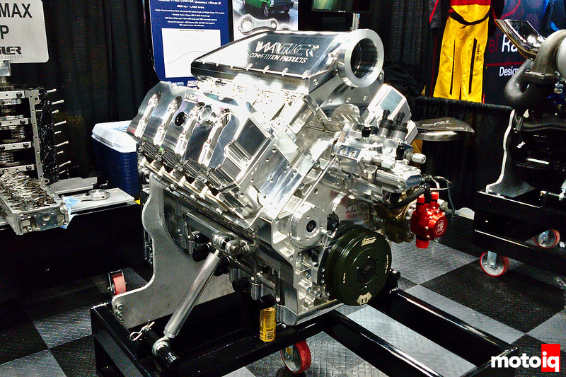 Wagler Competition Products DX500 Duramax engine on a stand