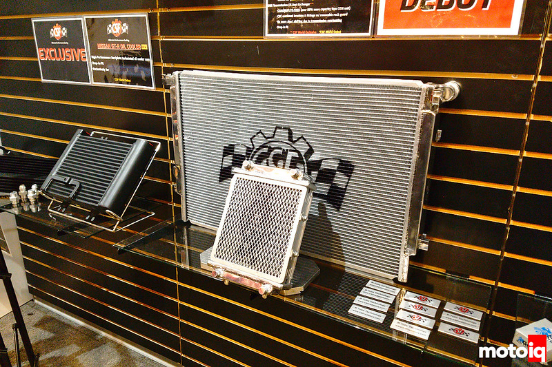 CSF VW/Audi MQB platform radiator behind DSG heat exchanger on a shelf