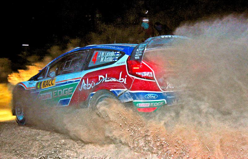 Jari-Matti Latvala (FIN) / Miikka Anttila - Ford Fiesta RS WRC. Day one, 2011 Rally de Espana