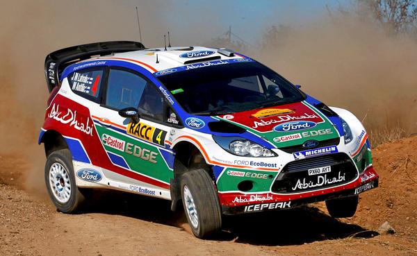 Jari-Matti Latvla (FIN) / Miikka Anttila - Ford Fiesta RS WRC. Shakedown, 2011 Rally Espana