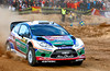 Mikko Hirvonen (FIN) / Jarmo Lehtinen - Ford Fiesta RS WRC. Shakedown, 2011 Rally de Espana