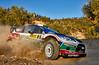 Mikko Hirvonen (FIN) / Jarmo Lehtinen - Ford Fiesta RS WRC. Day one, 2011 Rally de Espana