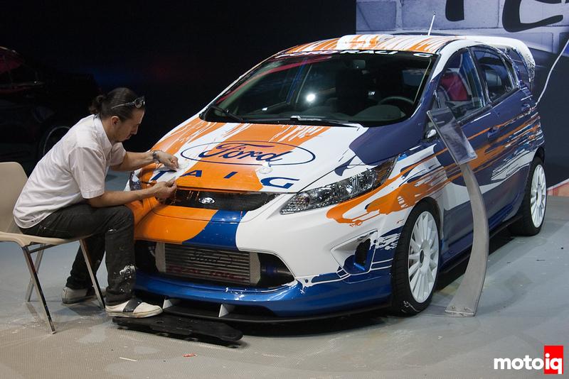 Camilo Pardo paints Ford Fiesta at SEMA 2010