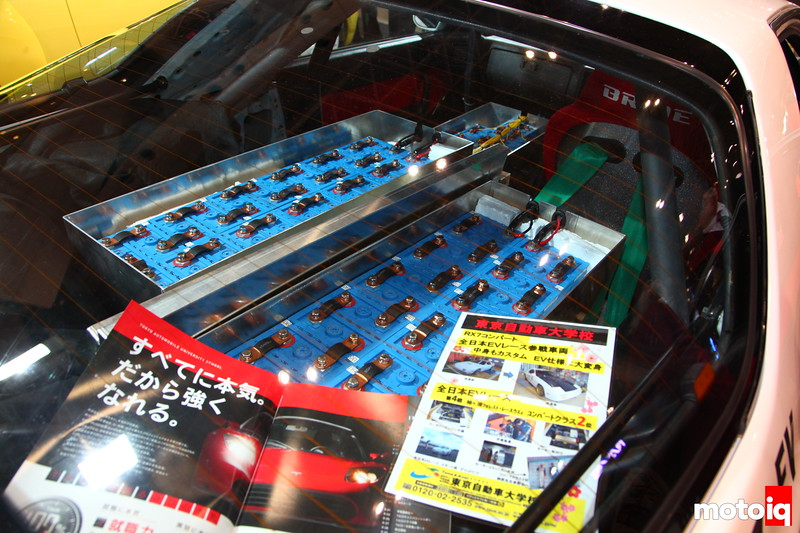 Tokyo Automotive College made a EV vehicle out of FC. Not sure it makes the kind of power required for it to drift, but it has all the correct components like a Bride ExasIII seats, Tein type flex coilovers, and Advan RG-D.
