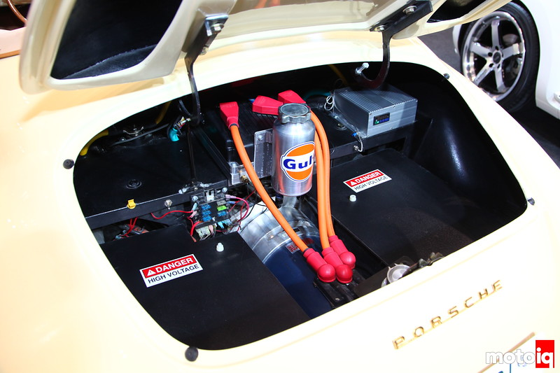 1957 Speedster: A three phase motor, stater, and inverter, the basics for any electric driven car.
