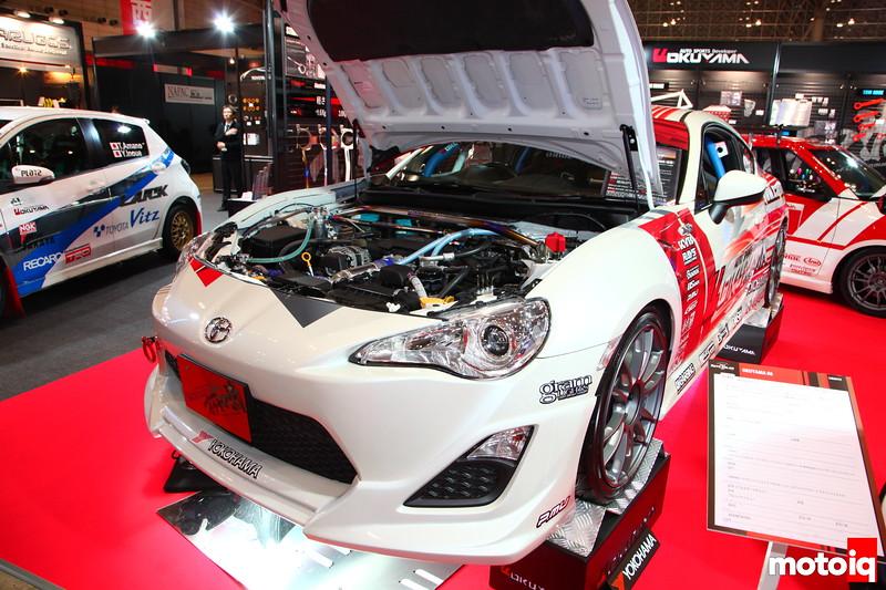 "Garage Okuyama, KYB Sport Suspension, Project Mu,  18"" Rays Wheels,"