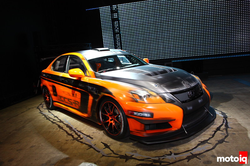 700 lbs lighter than a normal IS-F with more power, the Lexus CCS-R (Club Circuit Sports Racer) debuted at Pikes Peak in August 2012 with Ken Gushi at the wheel.