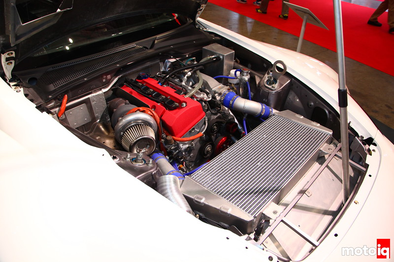 Top Fuel S2000: HKS GT3540 Turbo = 712 HP @ 7000RPM.