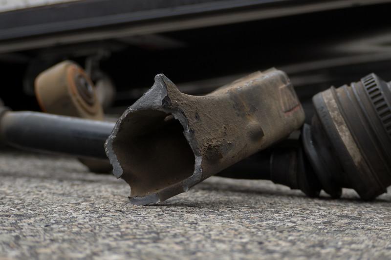 Broken BMW Suspension Arm