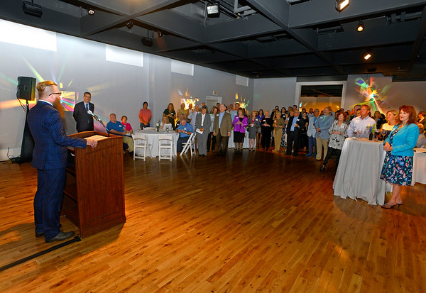 Pensacola Museum of Art  Board of Trustees President Edward Tisdale speaks during the Pensacola Museum of Art/University of West Florida Launch event at the PMA held on July 21, 2016.