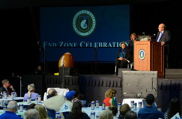 President Bense's End Zone Celebration