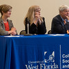 """The University of West Florida hosted the Seligman First Amendment Lecture Series January 16, 2018. The inaugural event entitled """"The Art of Public Dialogue"""" featured Drs. Kelly Carr, Jocelyn Evans and Bob Graham in a panel discussion where they discussed the importance of civic engagement, participatory politics, public debate, collective consensus building, space for dissent, and demonstration of mutual respect."""