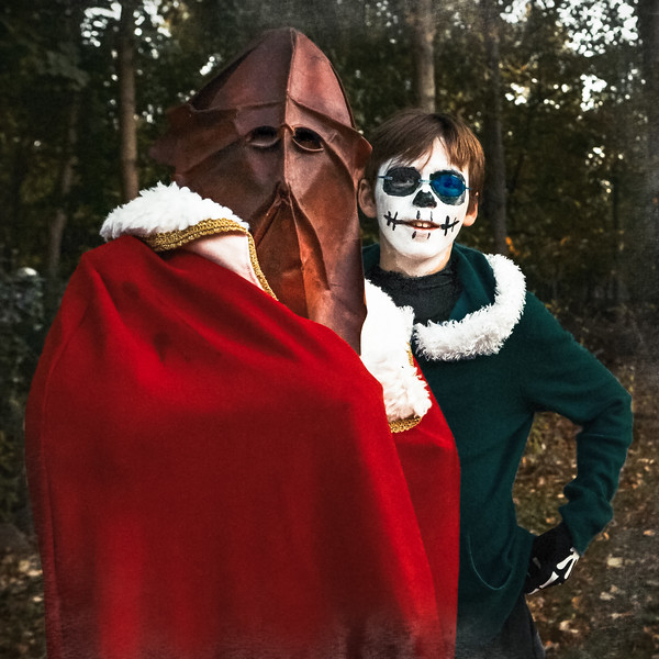 The Mountain and Sans live in Underground below earth and they both came up for a peek this Halloween. Boo!