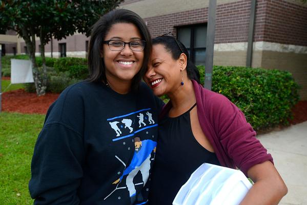 Nursing major Vanessa Coelho of Deerfield Beach, Florida and her mom Vania Xavier.